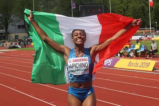 Larissa Iapichino alla ripartenza dell'atletica il 4 luglio a Vittorio Veneto